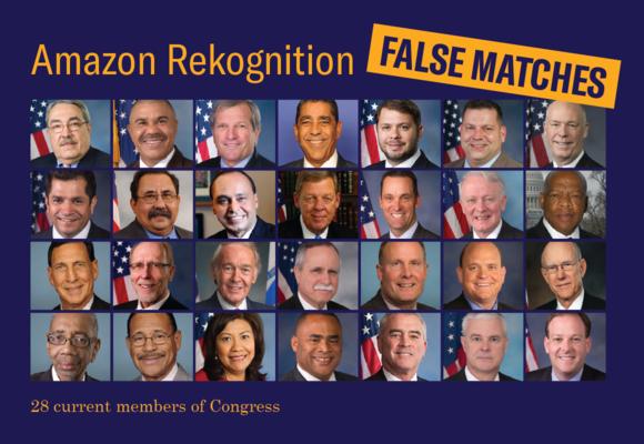 Congress False Matches by Amazon Rekognition